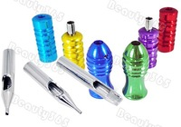 20pcs Tattoo Tips Nozzles Needle Supply 6 Grips Stainless Steel Free Shipping 1562