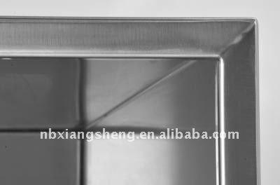 edelstahl blumentopf mit unterschiedlicher form blumentopf. Black Bedroom Furniture Sets. Home Design Ideas
