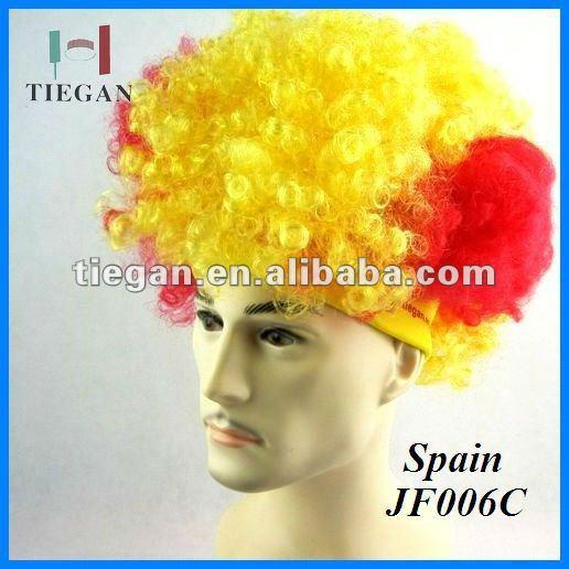 Espana custom sports fans wig hat printing logo