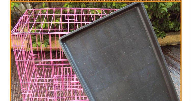 Door Folding Suitcase Dog Crate Pet Cage Cat Kennel w/DIVIDER Metal Pan