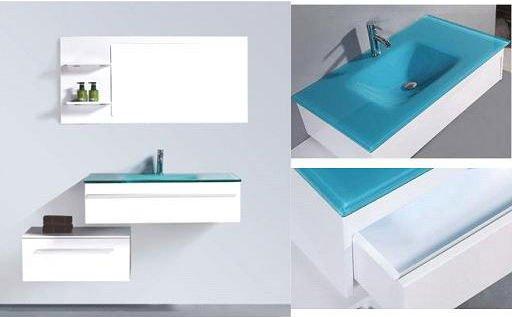Caliente de alto brillo moderno muebles de ba o de madera - Muebles altos de bano ...