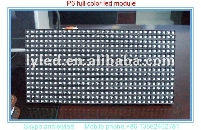 P6 1/8 scan indoor full color SMD LED moving message sign board