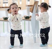Комплект одежды для девочек Baby Clothing set, children clothes, unisex suit.kid's polos, T-shirt+pant, Size 80, 90, 100