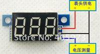 5pcs цифровой вольтметр постоянного тока 0-99v голубой led лития батарея ультра небольшую панель