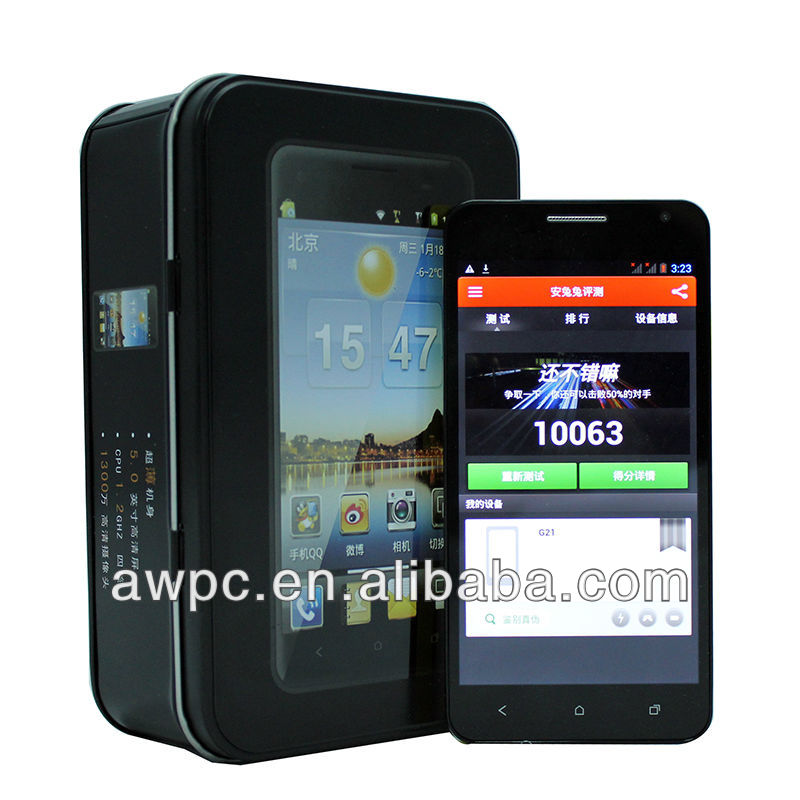AWPC 3G A7 processing chip MTK6589 android mobile phones