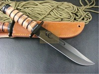 $15 off per $150 order KABAR 1217 ALL BLADE FIXED BLADE KNIFE WITH LEATHER HANDLE Free shippng