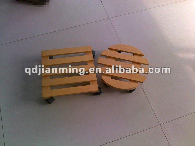 Heavy duty wooden flat tray dolly tool cart platform truck