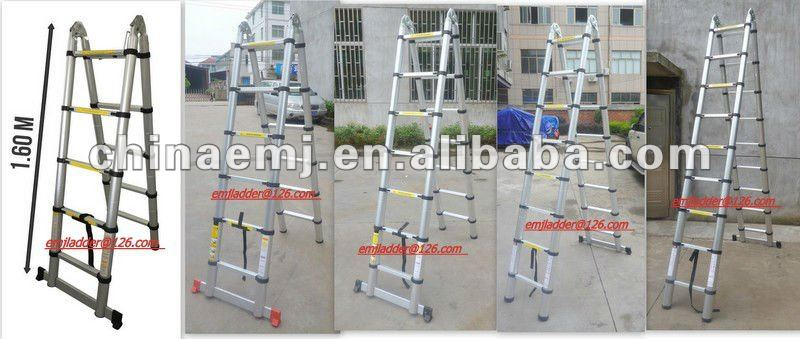 5.6m Telescopic ladder/3 position telescopic ladder/telescopic ladder with joint
