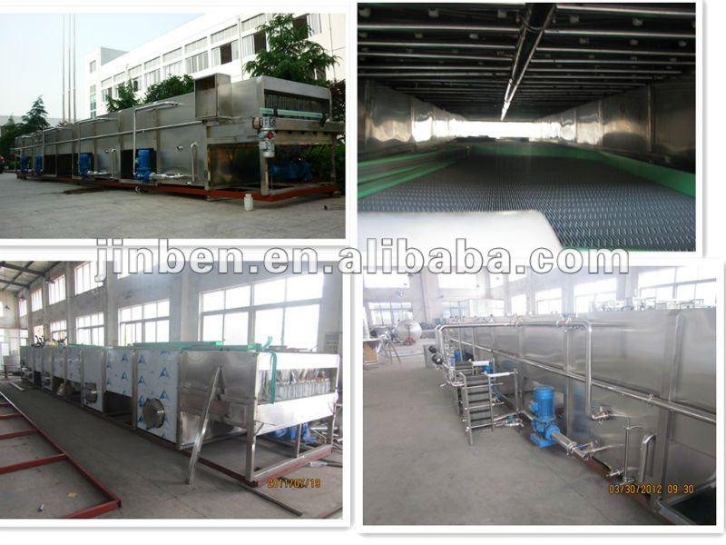 Glass beer bottle sterilization tunnel