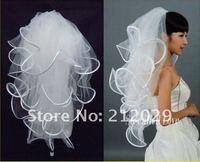 4T White Ivory Wedding Bridal 19x27x33x40 inches Ribbon Edge Comb Veil