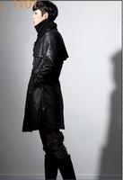 Мужской тренч harajuku Winter latest male han trench coat personality long male dust coat winter jacket men's clothing