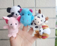 Free shipping 10 Finger Hand Puppets Animal Shaped Set Baby Child Toy
