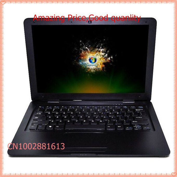 Fast and secure shipping Ultra Slim 13 Inch Intel D2500 Win7 Netbook ,2G+320G