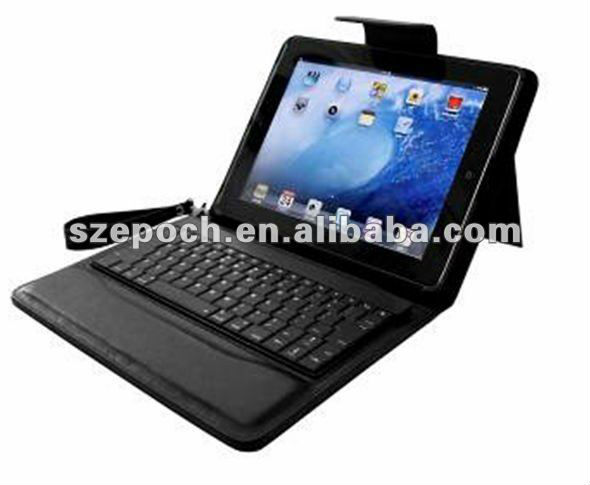 Factory direct sales smart cover bluetooth keybaord leather case for Ipad