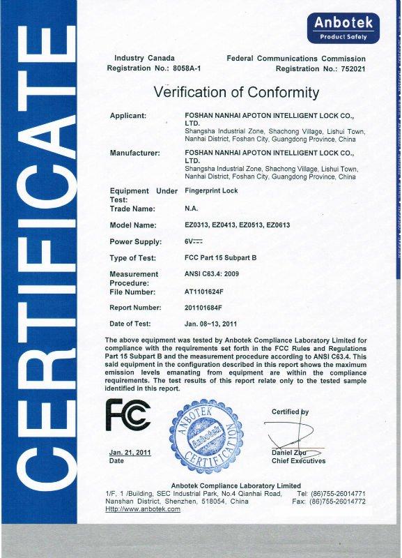 waterpoof,dustproof fingerprint digital door lock with CE certification JU-EZ0413