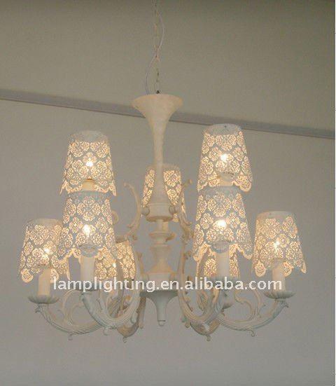 lampadari romantici : Laser de coupe ombre lustre avec cristaux pendentif lampe pour h?tel ...
