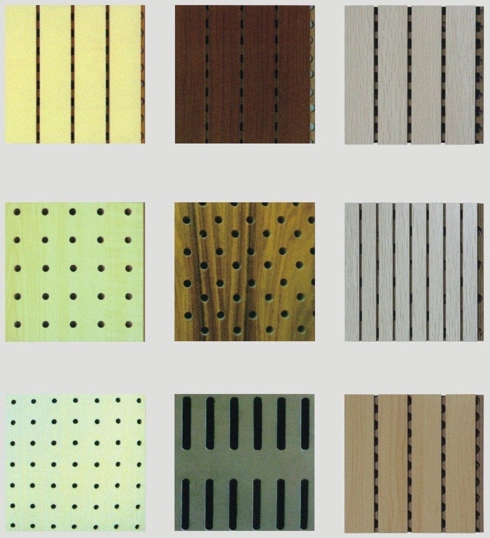 gerillt holz akustische wandverkleidungen-akustisches paneel, Moderne