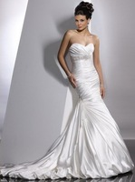 Свадебное платье hot sell Custom-Made Strapless Handmade Flower Wedding Dresses 2012 any size/colour /retail