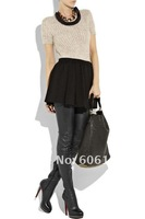Женские ботинки 2011 Halloween gifts, women fashion leather thigh high boots/over the knee boots black
