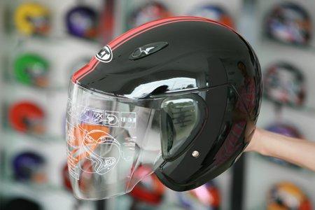 Dirt bike open half face helmet