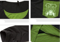 Футболка Fashion Faux two pieces t-shirt, xxxxl women t shirt long sleeve plus size cotton t-shirts, women clothing DM114