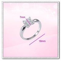 (RW-05) Fashion 18K White Gold Plated CZ Woman Ring, Free shipping