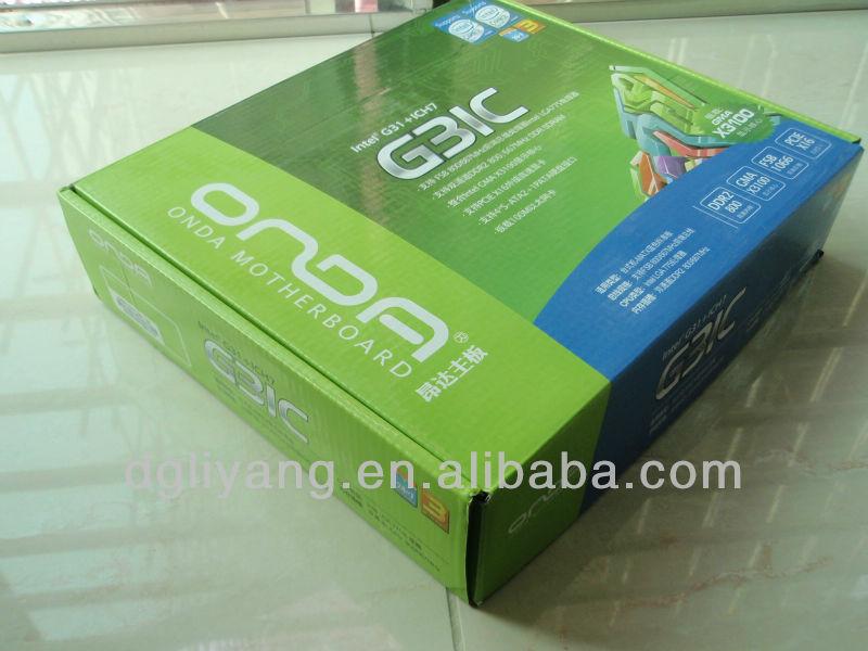 CMYK Printing E-Flute Carton Box with Customized Design Templates