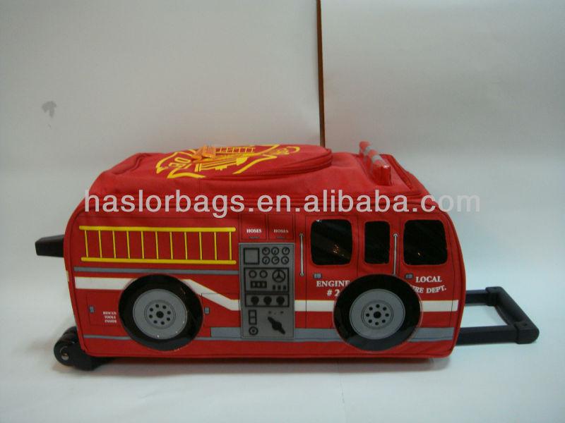 Bus en forme de Design lumineux rouge Shool sac