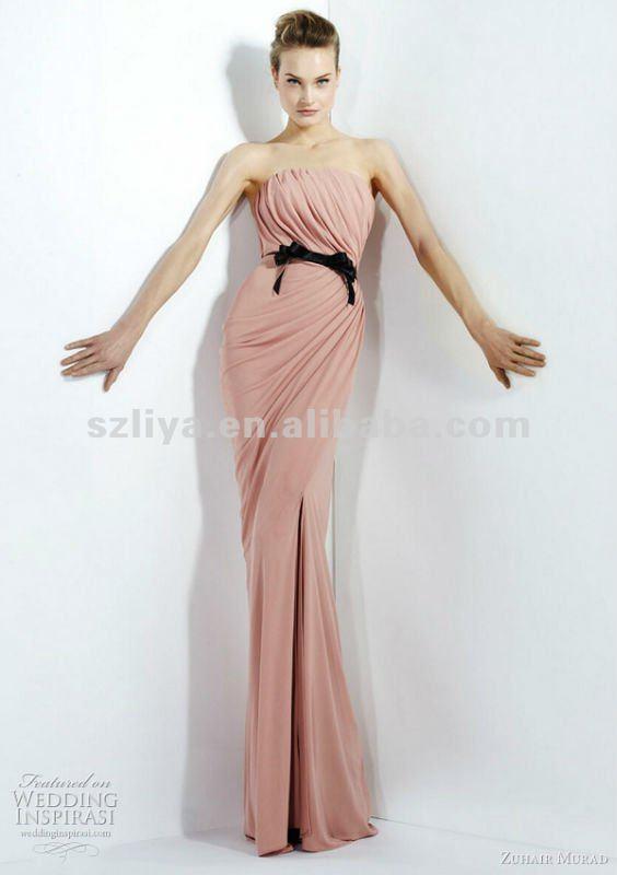 Mature 2012 sheath pink formal dress