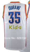 Free shipping cheap #35 Kevin Durant youth basketball jersey, Embroidery logos kids basketball jerseys