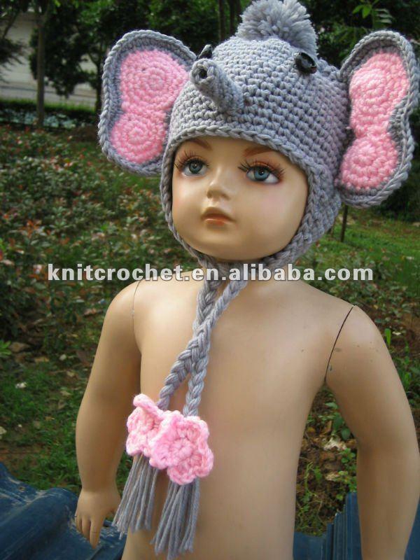 Crochet Elephant Hat Pattern Knit Crochet Elephant Hat