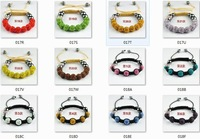 Браслет из бисера 50% Off Newest Shamballa Resin Bracelets Micro Pave CZ Disco Ball Beads And Retail