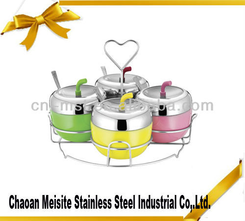 Stainless Steel Seasoning box cruet set