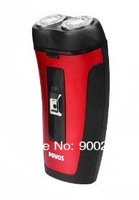 Электробритва NEW Fashion POVOS PW902 Electric 2-Blade-Head Rotating Shaver Razor - Red
