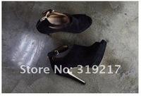 Женские ботинки cheap price, Brand New Women's Suede Platform Peep toe Bootie High Heels Boots Shoes
