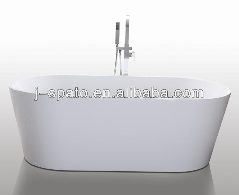 Seamless Connected Freestanding short bathtub
