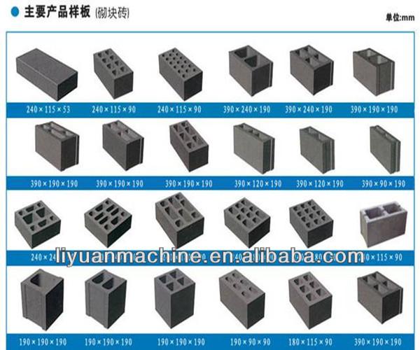 Briques et blocs qt4-20 fabricants de machines