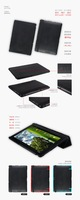 "hot selling Slim PU leather case cover for ASUS Transformer TF300 10.1""inch tablet"