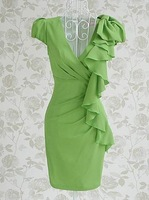 Женское платье S-L manufacturers supply sexy Women's green fashion dress #452-941