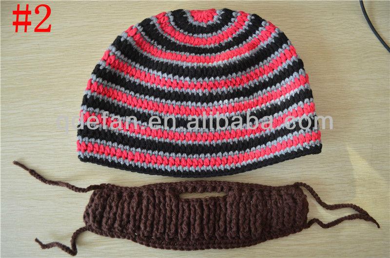Excelente Sombrero De Patrón De Crochet Con La Barba Patrón - Ideas ...
