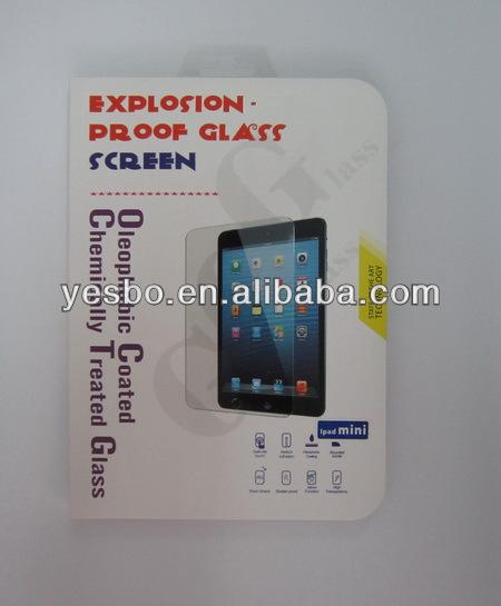 mobile phone screen protector preminm tempered glass for ipadmini mini2 facory price