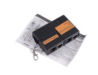 Инструменты измерения и Анализа Mini RJ45 RJ11 Cat5 Network LAN Cable Tester with KeyChain 9 LEDs
