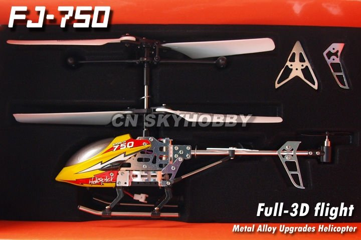 FJ-750A 3CH Metal Alloy Upgrades Mini RC Helicopter RTF