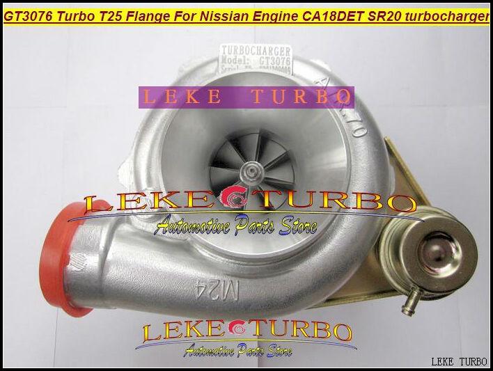 GT3076 Turbo T25 Flange For Nissian Engine CA18DET SR20 Turbocharger (1)
