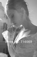 заказ 2 элегантных пользовательские сделал Инбаль Дрор длинные Свадебные платья кружево в Дубае для