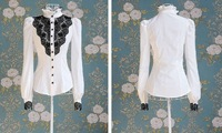 Женские блузки и Рубашки 2012 Newest Women fashionable shirt/office lady shirt S M L XL XXL Drop-shipping acceptable
