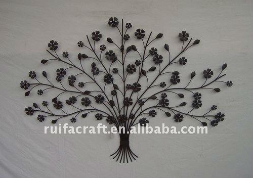 M tal arbre forme d coration murale autres d cors maison for Decoration murale arbre de vie
