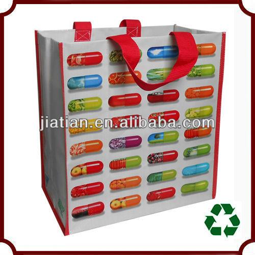 Laminated pp woven reusable shopping bag