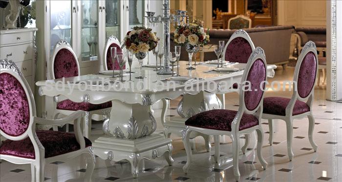 Italia diseño de muebles de madera maciza de haya 0036 comedor ...