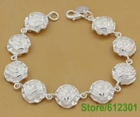 Серебряный браслет Lose money! silver 13 charm bracelet, high quality silver jewelry, silver fashion bracelet jewelry, factory price